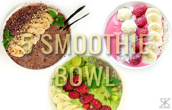 smoothie bowl w 4 odslonach