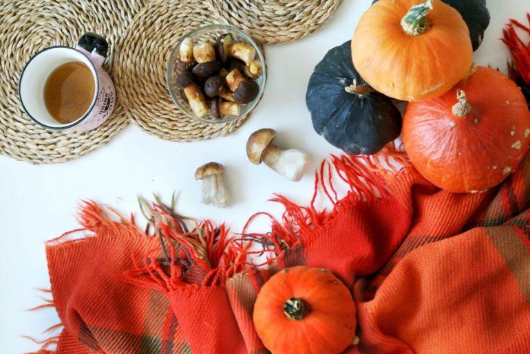 jesień, skarby jesieni, flatlay, autumn, pumpkin