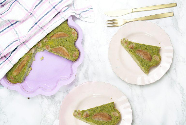 ciasto z brokułem i gruszką